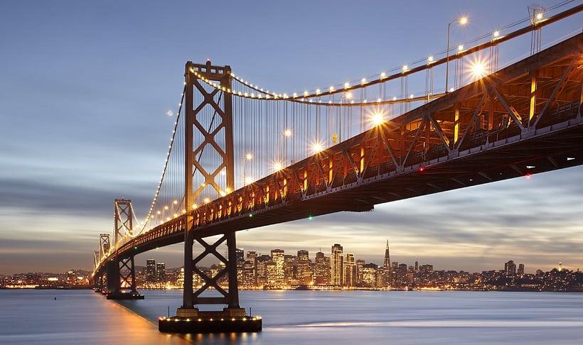 Cidade turística San Francisco na Califórnia