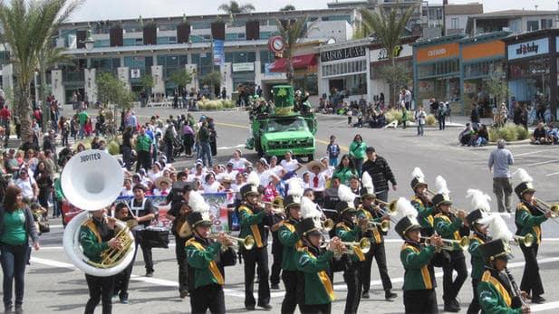 Comemoração de St. Patrick's Day em Los Angeles