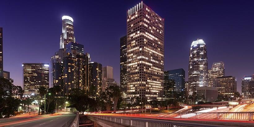 Cidade turística Los Angeles na Califórnia
