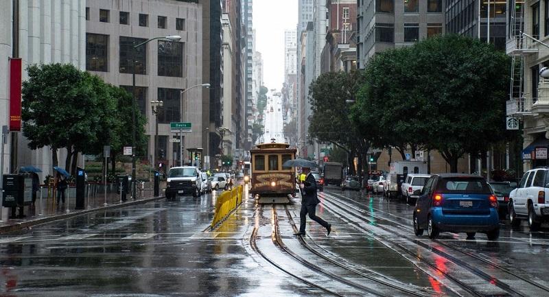 Chuva em San Francisco