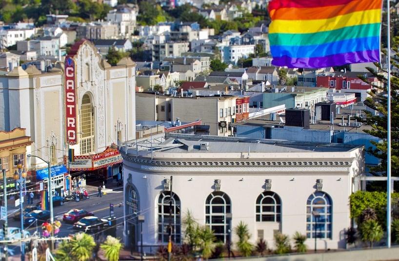 Bairro Castro em San Francisco na Califórnia