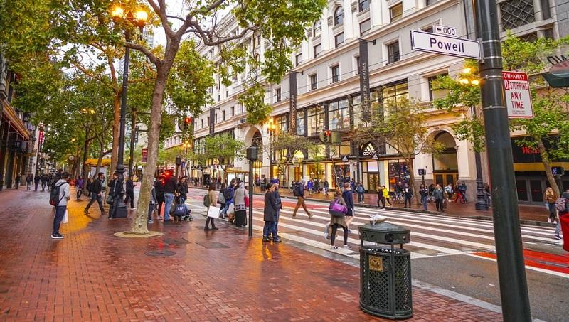 Turistas em San Francisco