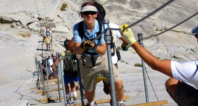 Escalada em Half Dome na Califórnia