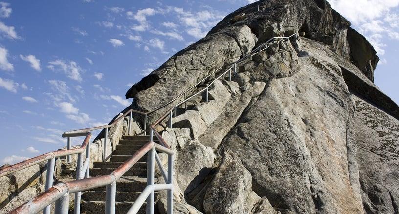 Moro Rock no Parque Nacional da Sequoia na Califórnia