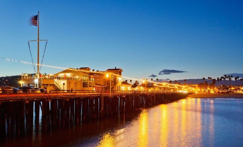 Visita ao Stearns Wharf em Santa Bárbara