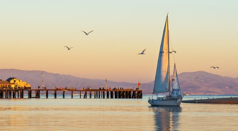 Atividades no Pier Stearns Wharf em Santa Bárbara