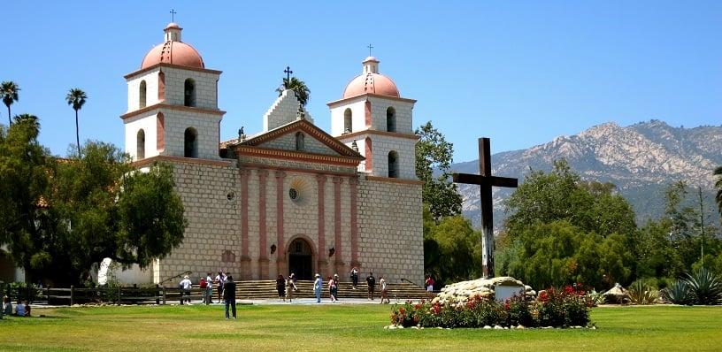 Old Mission Santa Bárbara em um roteiro de viagem em Santa Bárbara