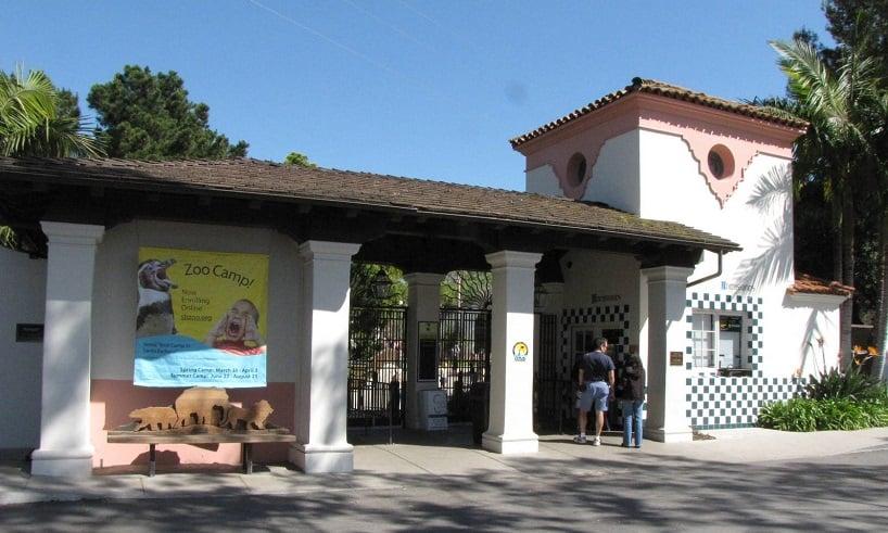 Fachada do zoológico Santa Bárbara Zoo