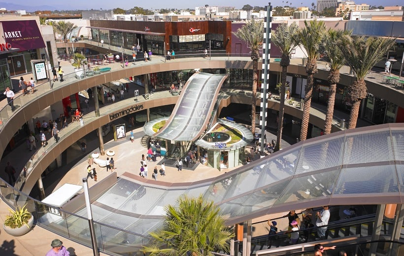 Shopping Santa Mônica Place para um roteiro em Santa Mônica
