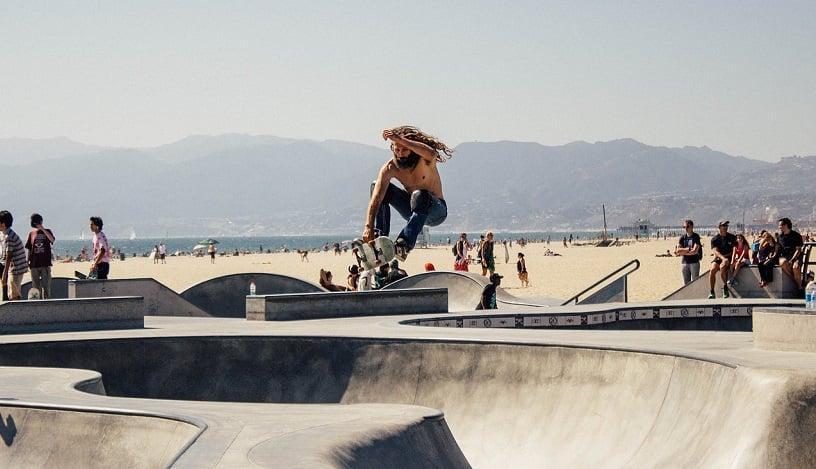 Venice Skate Parque em Santa Mônica