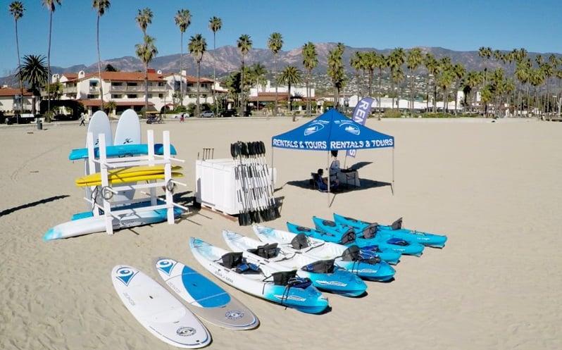 Atrações na Praia West Beach em Santa Bárbara
