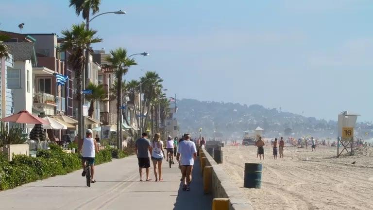 Movimentação de turistas e hospedagens no mês de junho em San Diego