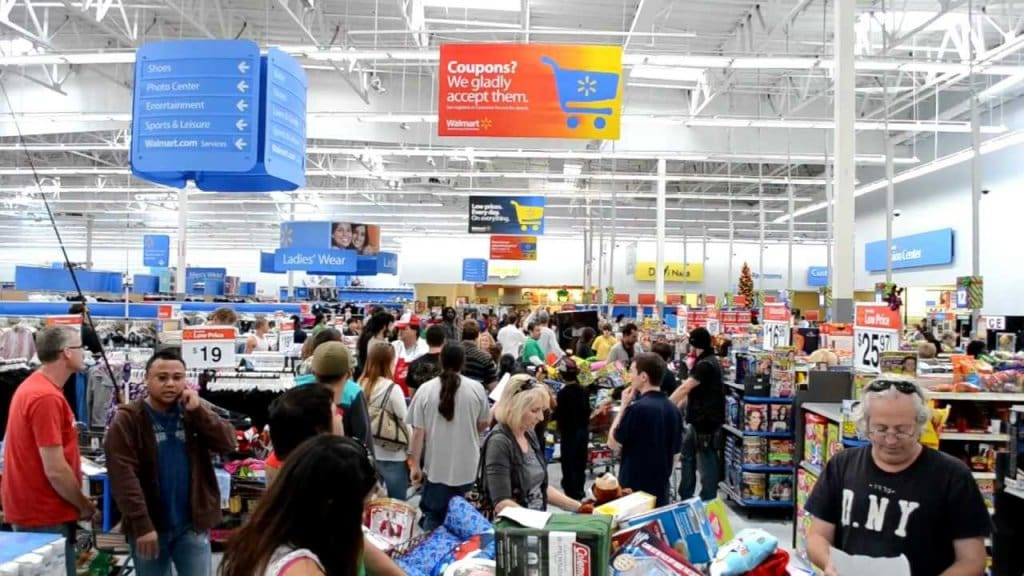 População na Black Friday em San Diego