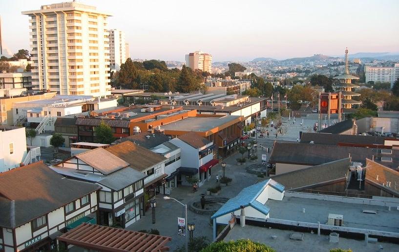 Bairro Japan Town em San Francisco