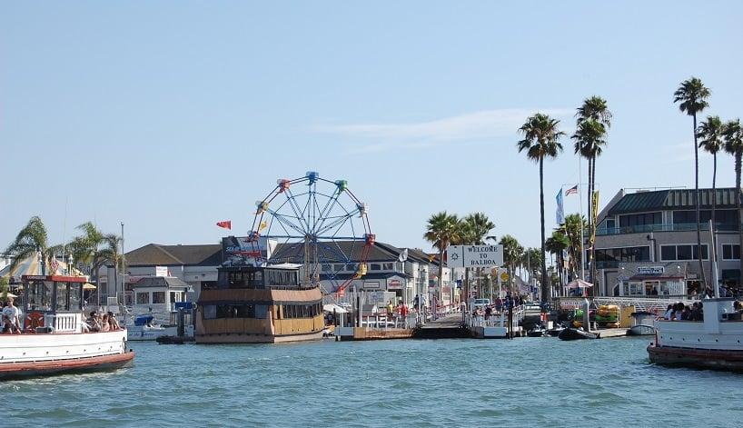 Praia Balboa Beach nas proximidades em Anaheim