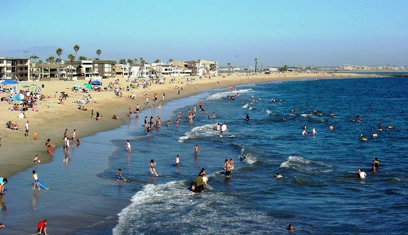 Praia Seal nas proximidades de Anaheim