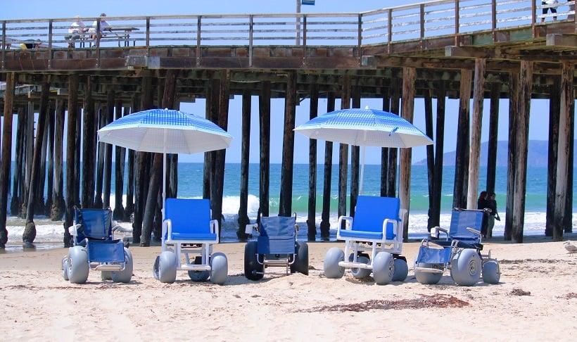 Dicas para deficientes físicos em praias em San Diego