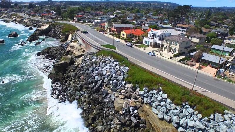 Ponto turístico West Cliff Drive em Santa Cruz