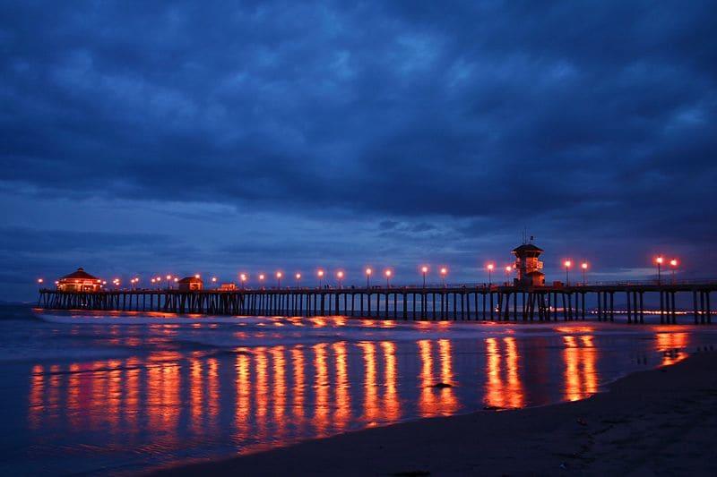 O que fazer a noite em Huntington Beach