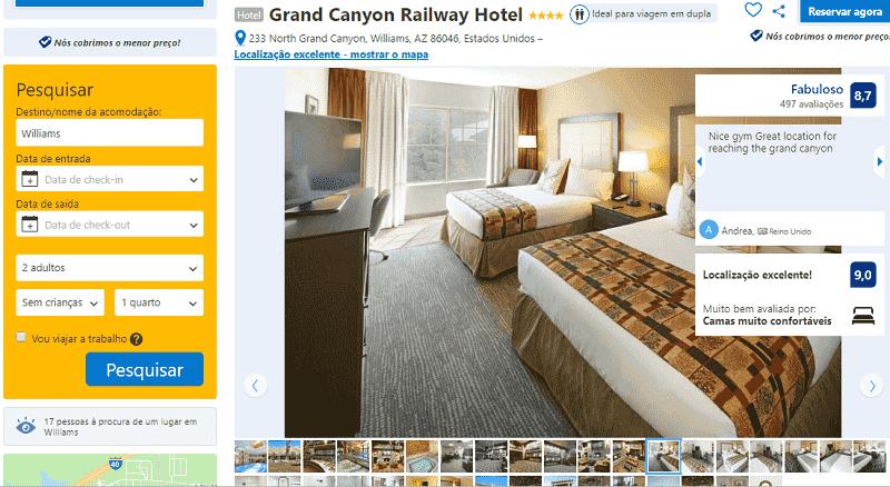 Estadia no Grand Canyon Railway Hotel em Williams