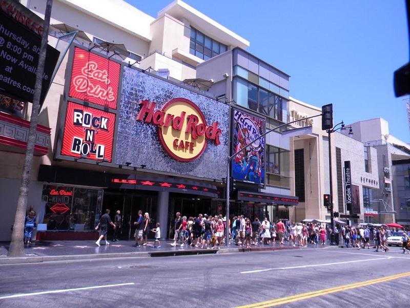 Hard Rock Café Hollywood Boulevard Los Angeles