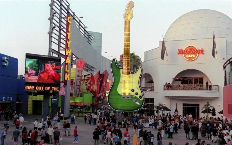 Estrutura do Hard Rock Café Universal CityWalk Los Angeles