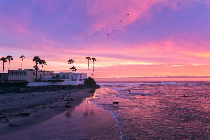 Pôr do sol na Califórnia