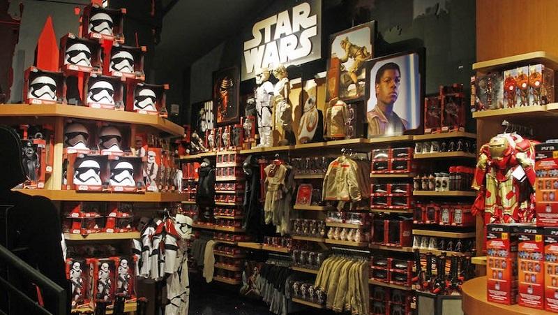Produtos Star Wars na Disney Store