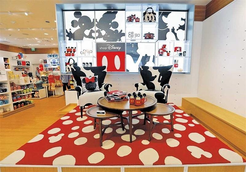 Interior da Disney Store em Los Angeles
