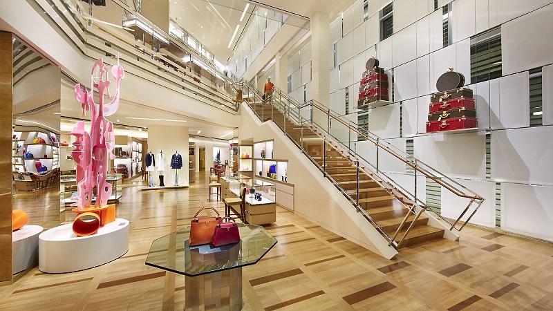 Estrutura da loja Louis Vuitton em Los Angeles