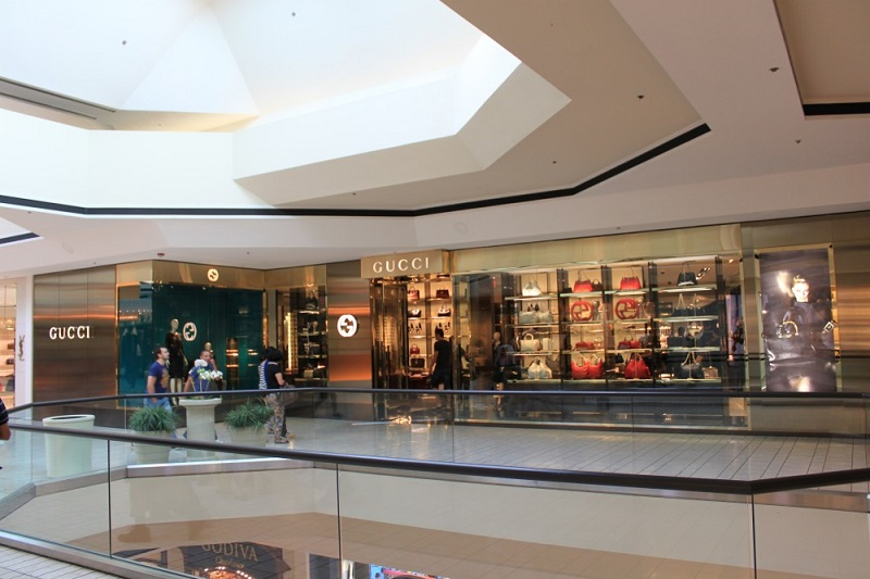 Loja Gucci em Shopping de Los Angeles