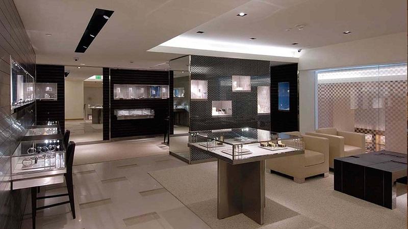 Interior da loja Louis Vuitton em San Francisco