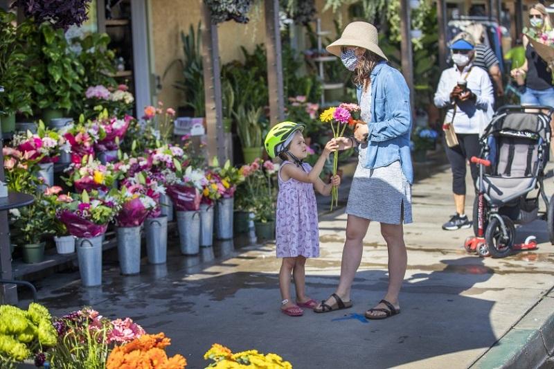 Floricultura durante pandemia na Califórnia