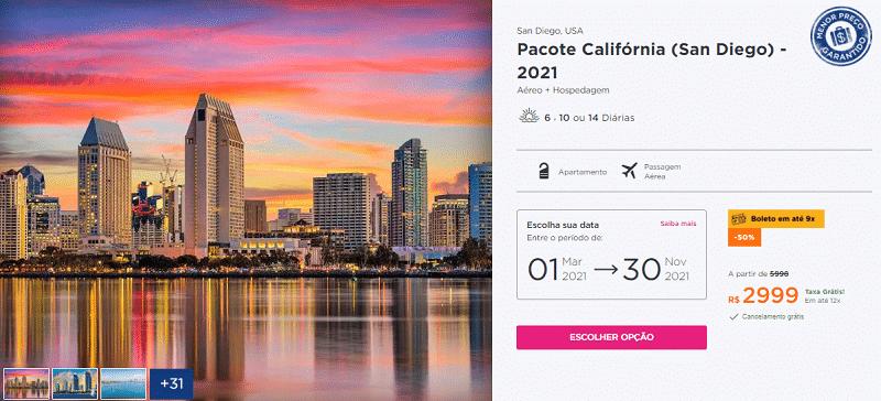 San Diego Pacote Hurb