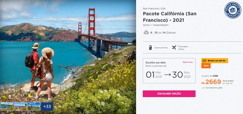 Pacote Hurb - San Francisco