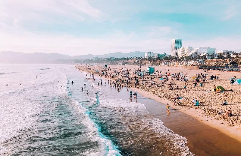 Praia em Los Angeles