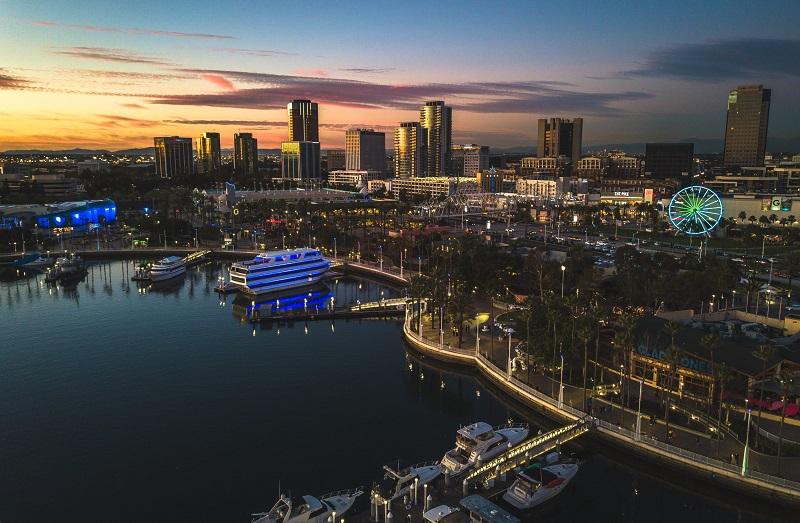 Long Beach de noite