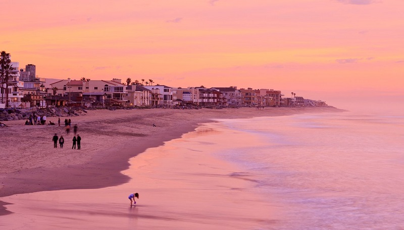 Praia de San Diego com belíssimo pôr do sol