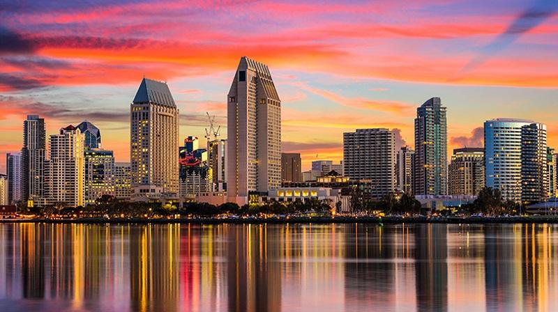 Pôr do sol em San Diego
