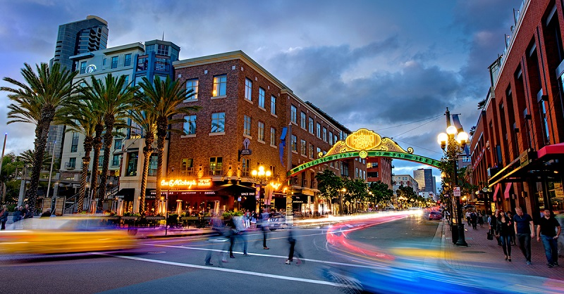 Gaslamp Quarter em San Diego